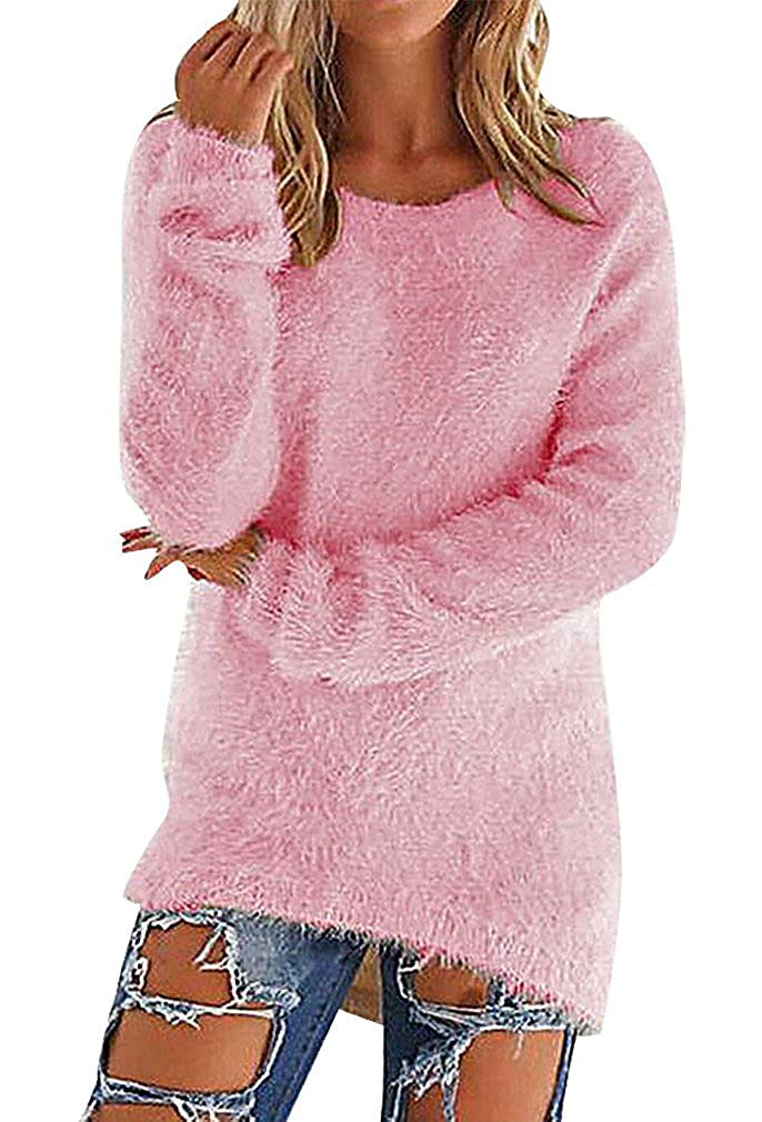BLady Women Cotton Polyester Solid Color Cable Knit Full Sleeve Slim Sweater