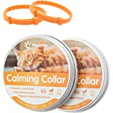 Calming Collar for Cats & Dogs 2 Pack - 60 Days Effective Reduce Anxiety Natural Waterproof Collar, Fit for Small Medium Larg