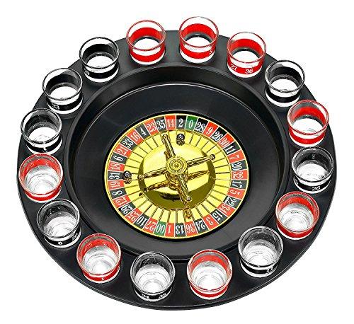 MIFO ショットグラスルーレット ロシアンルーレット ゲームセット ショットグラス16個付き ルーレットボール2個付き パーティ、合コン、居酒屋に盛り上げる 飲みゲーム