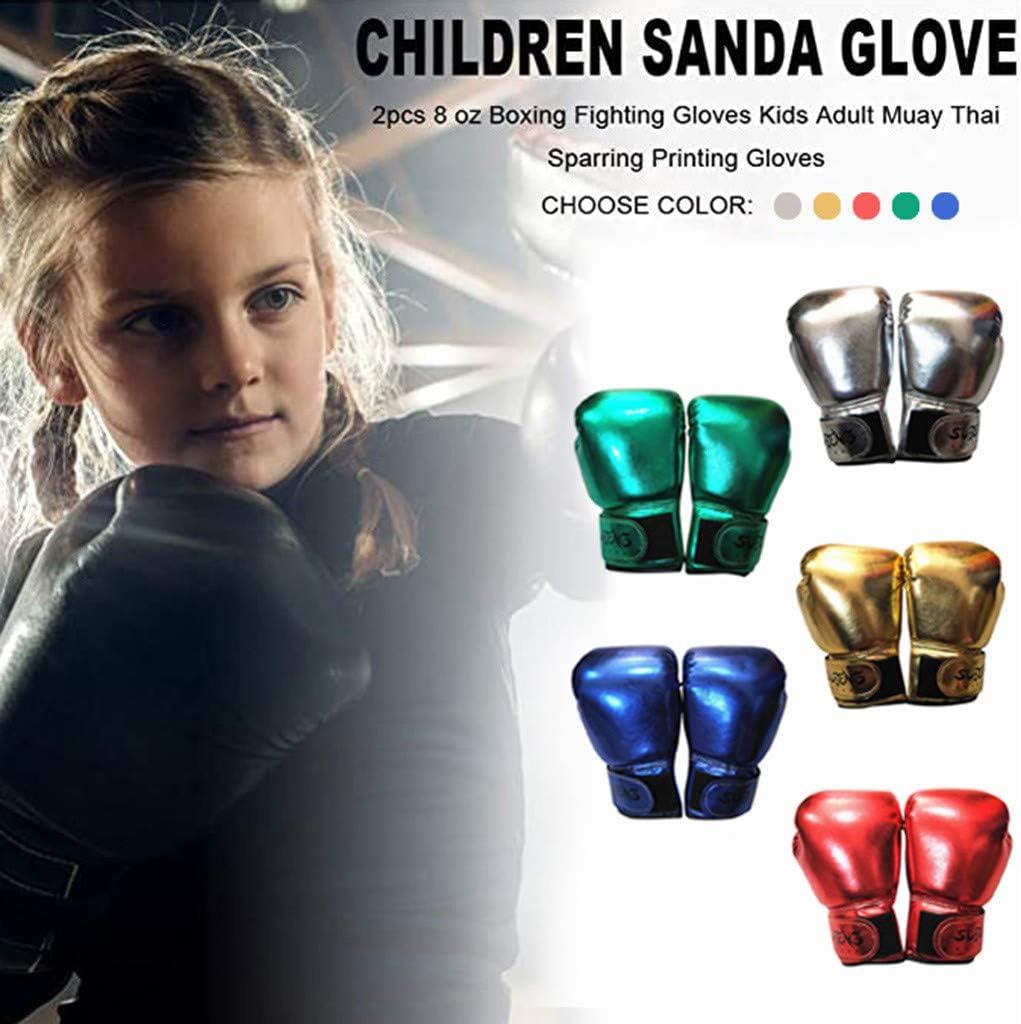 1 Pair Adult Children Karate Sanda Boxing Fighting Sparring Punching Gloves