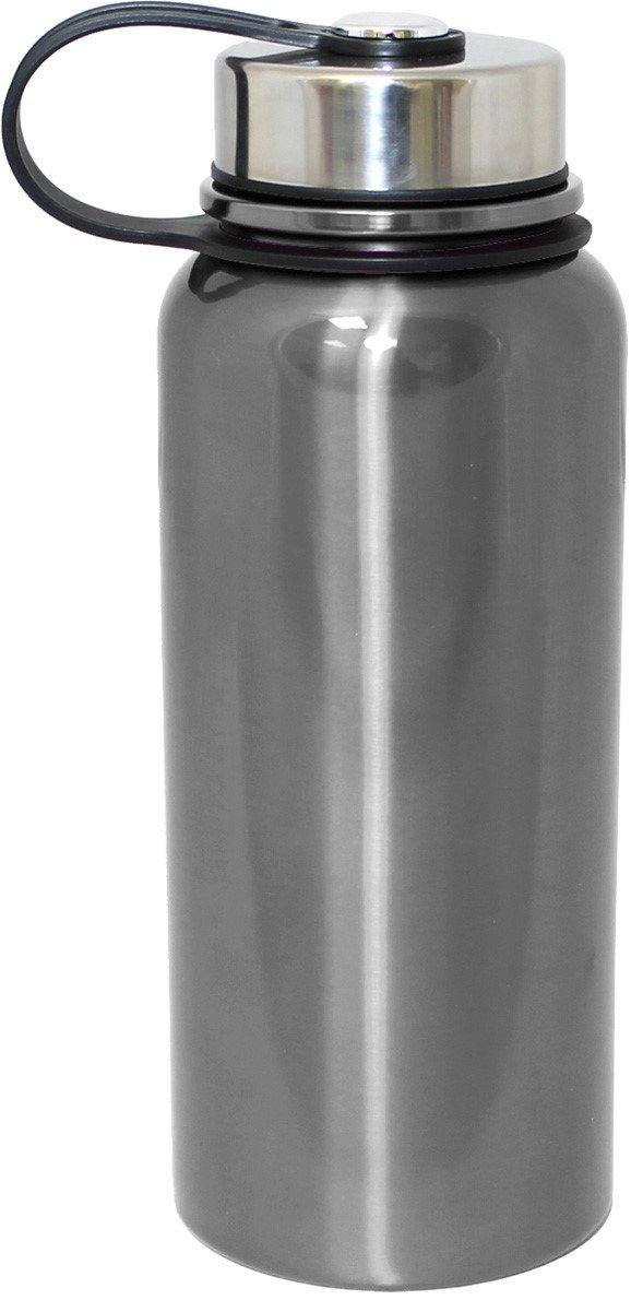 Green Electroplated Finish Wellness Insulated Double Wall Stainless Steel Vacuum Sealed Flask Water Bottle 30oz