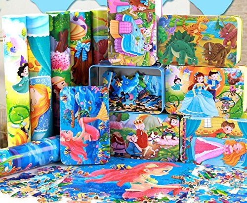 YChoice Educational Puzzle Kids Creative Wooden Educational Puzzle Early Learning Story Animal Toy Fantastic Gifts Kids(Sleeping Beauty)