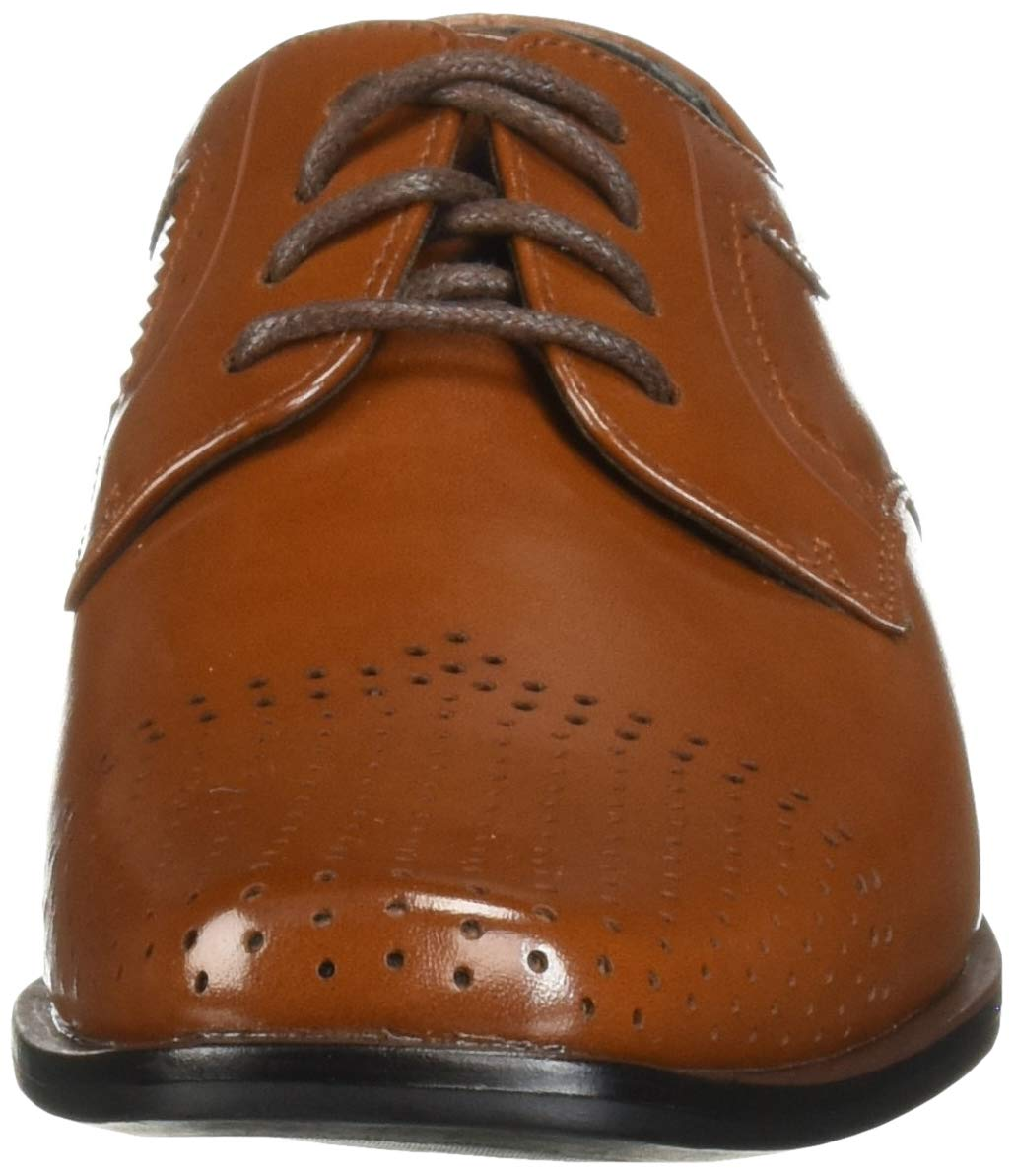STACY ADAMS Unisex Sanborn Perfed Cap Toe Lace-Up Oxford, Cognac 5 M US Big Kid by STACY ADAMS (Image #4)