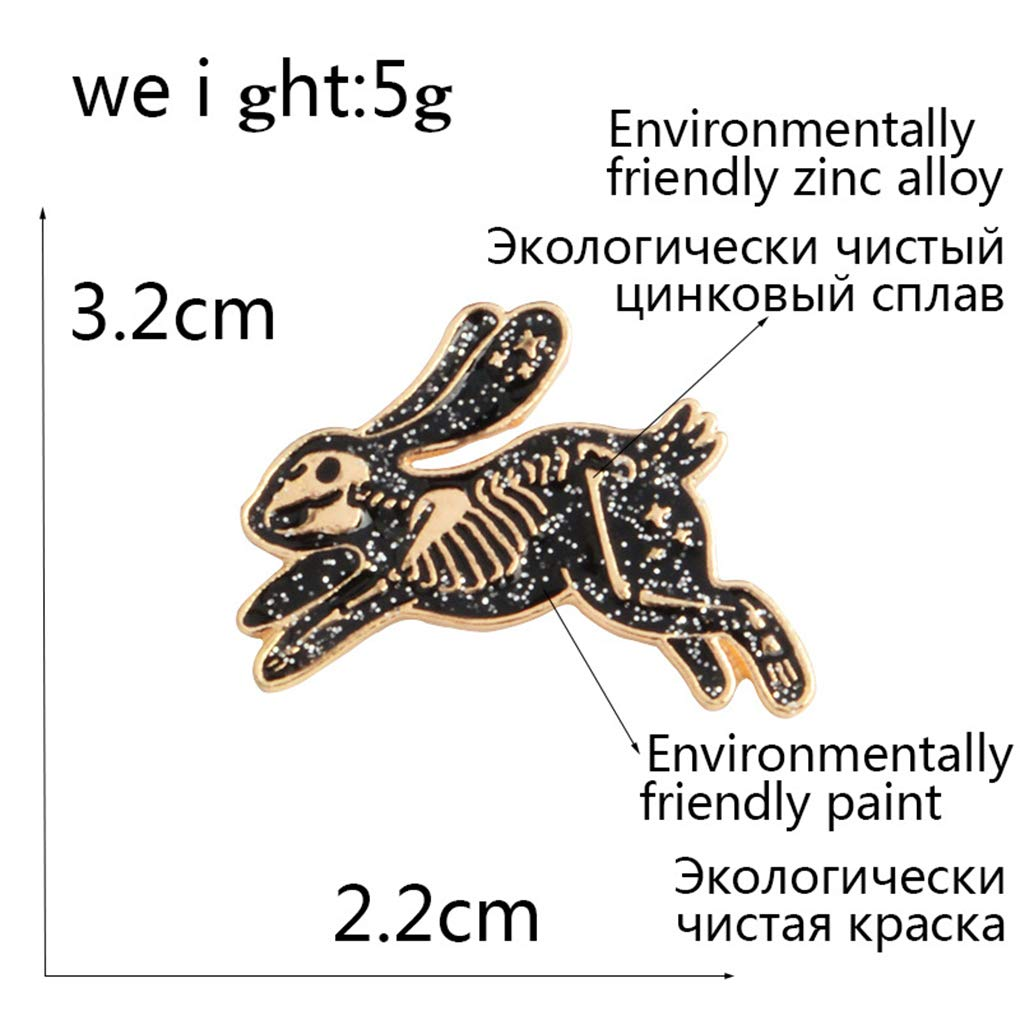 Rekkles Conejo en Forma de Regalos de la joyer/ía de los Hombres Ropa Broche ni/ñas aleaci/ón Plateada Animal Breastpin Contacto de Ropa
