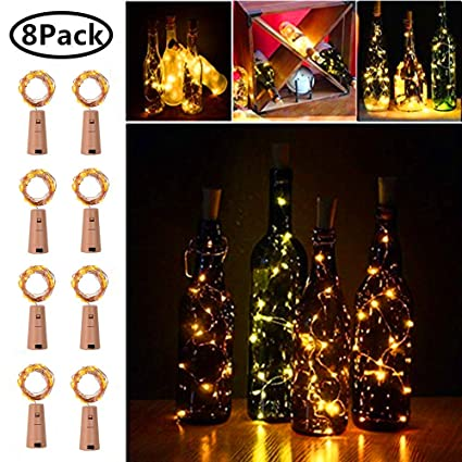 Collection Here Cork Shaped Wine Bottle Stopper String Lights 2 Meters 20 Leds Silver Copper Wire Diy Christmas Halloween Wedding Party Crafts Led Table Lamps Lights & Lighting