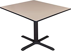"Regency Cali Square Breakroom Table, 48"", Ivory"
