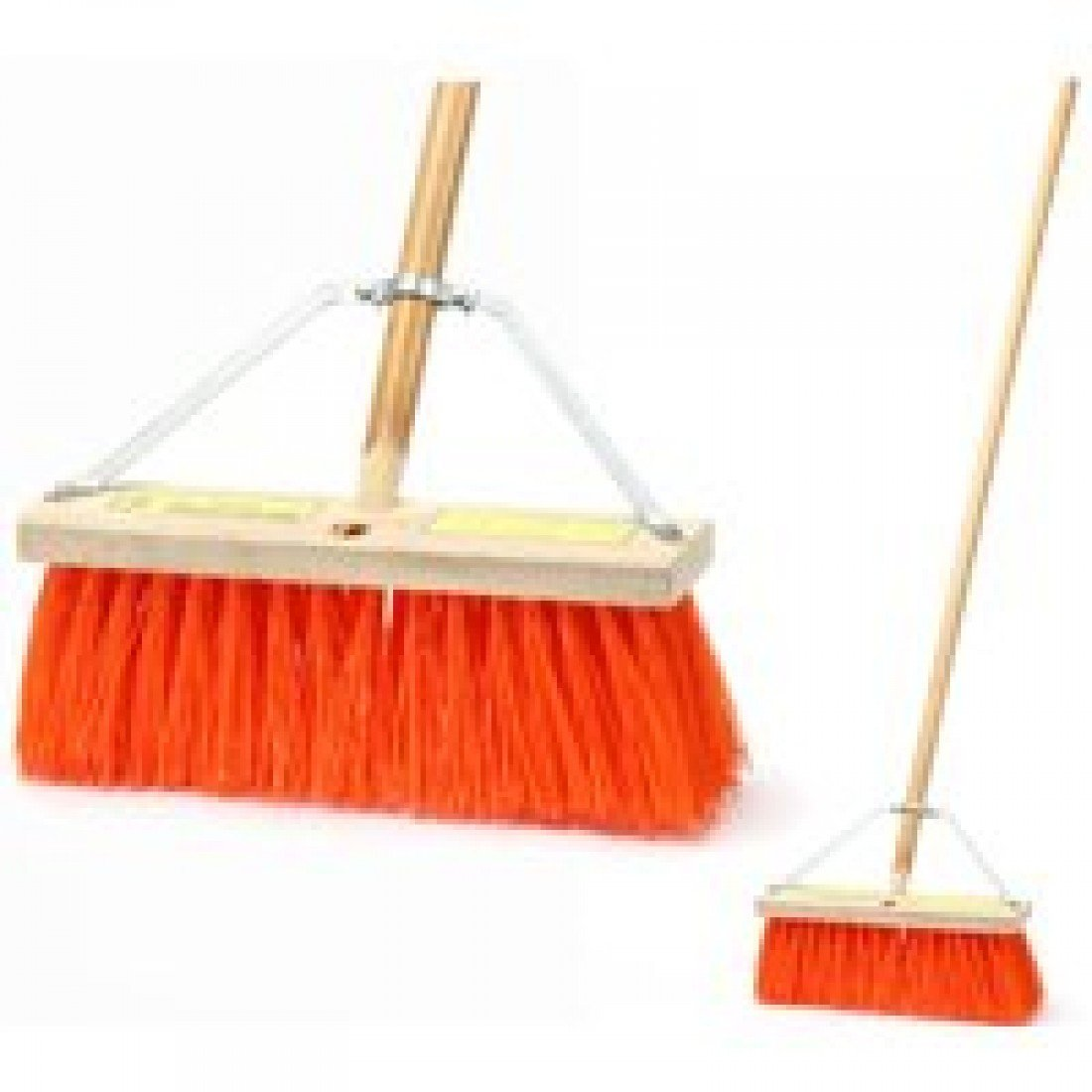 Set of 4 MaxiPlus Professional Angle Broom with Unflagged