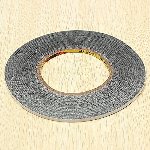 4mmX50m Black Double Sided Adhesive Tape Sticker for LCD Touch Screen (Tmobile Sensation Battery)