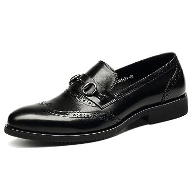 HANMCE 2017 New Monk ShoesGenuine LeatherRound Toe Single StrapLow Heel brown US9.5=EU43