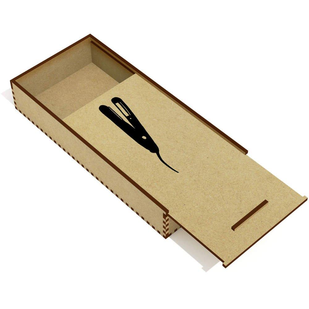 Azeeda Planchas para el Pelo Estuche de lápices de Madera (PC00004737): Amazon.es: Juguetes y juegos