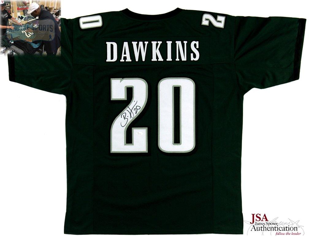 Brian Dawkins Autographed/Signed Philadelphia Custom Green Jersey Radtke Sports