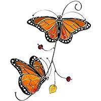 carrie-ful Artesanías exquisitas de la decoración de la Ventana de la Mariposa monarca del Metal Standard