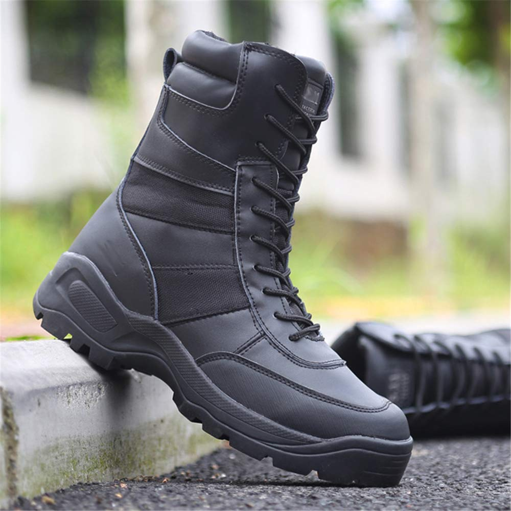 MODEOK Mens Outdoor Tactical Training Boots Waterproof Military Jungle Boots with Side Zip