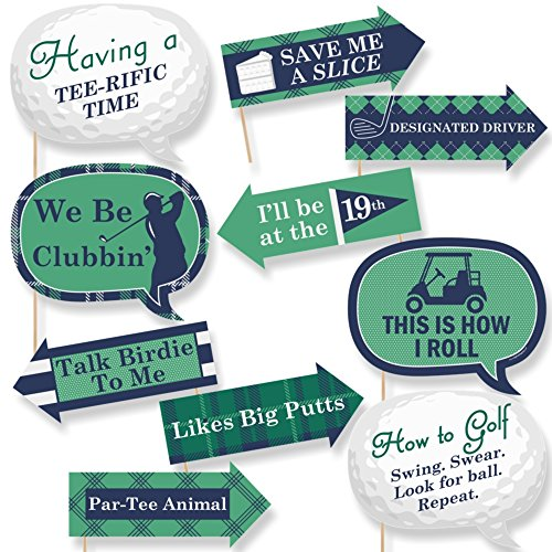 (Funny Par-Tee Time - Golf - Party Photo Booth Props Kit - 10)