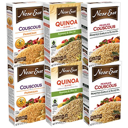 - Near East Rice Variety Pack, Couscous and Quinoa, 6 Count