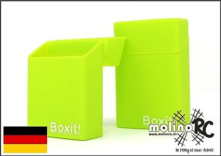 2 Cajas de Cigarrillos de Silicona de Color Verde Claro con diseño Verde – Funda para Cigarrillos –