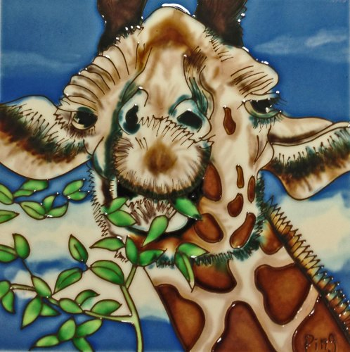 continental-art-center-bd-2231-8-by-8-inch-giraffe-with-leaves-ceramic-art-tile