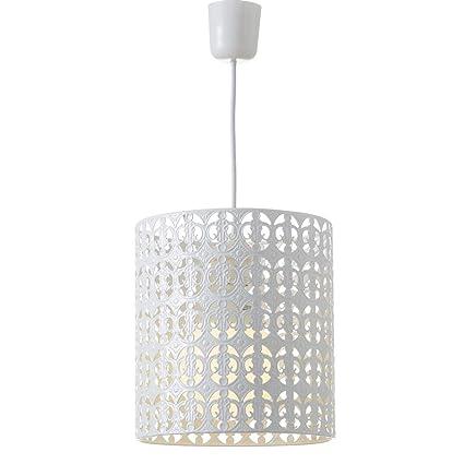 Lámpara de Techo árabe Blanca de Metal para decoración ...