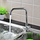 MDRW-Copper Cold Kitchen Faucet Stainless Steel Cold Vegetable Washing Basin Sink Faucet Universal Rotating Wall Faucet