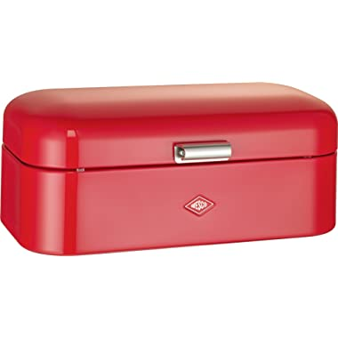 Wesco Grandy – German Designed - Steel bread box for kitchen / storage container, Red