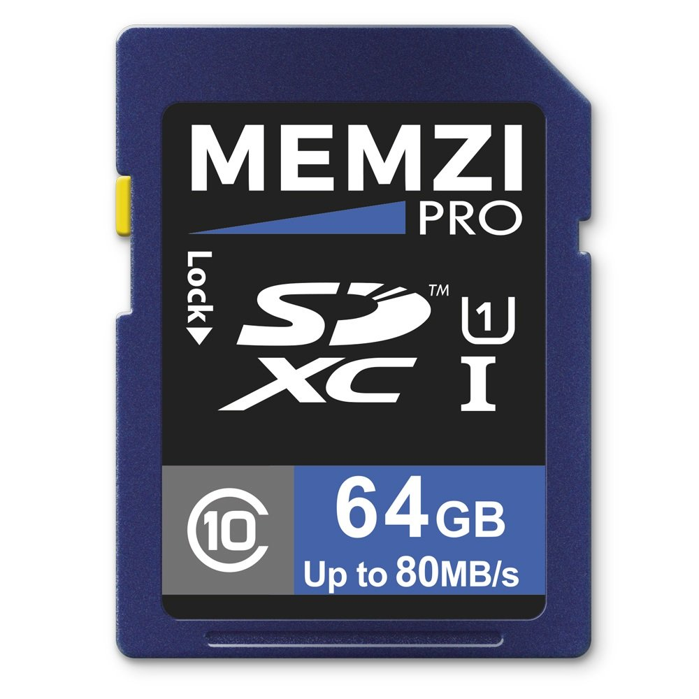 MEMZI PRO 64GB Class 10 80MB/s SDXC Memory Card for Sony Alpha a3000, a5000, a5100 E-Mount Interchangeable Lens Digital Cameras by MEMZI