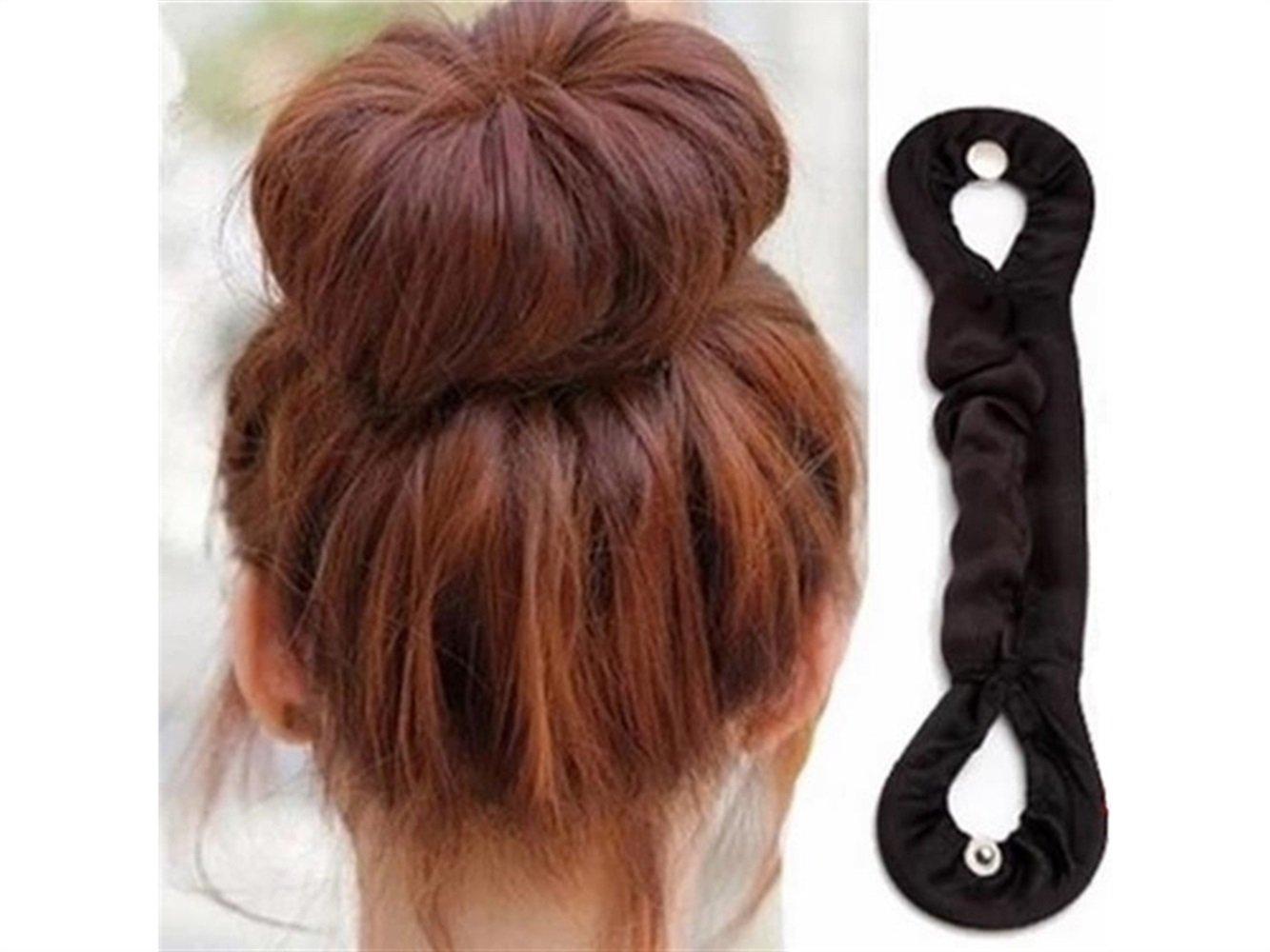 Mode Tissu enveloppé de cheveux Donut Bun couper les cheveux Pose Case DIY Hairstyling Fille Femme Décoration Huertuer