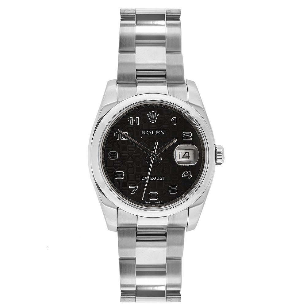 Rolex Datejust swiss-automatic womens Watch 116200BKJAO (Certified Pre-owned)