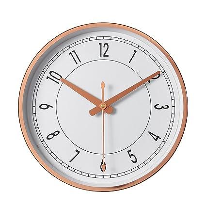 bc999d21f677 LXYFMS Reloj de Pared nórdico silencioso Reloj casero Moderno Reloj  Minimalista Creativo Reloj de Pared (