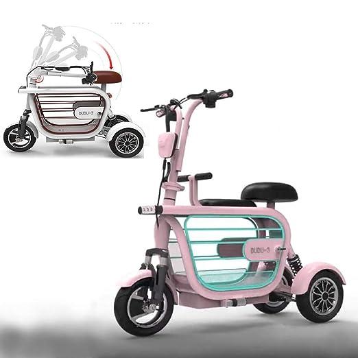 WLY Bicicleta eléctrica Plegable de Tres Ruedas para Adultos ...