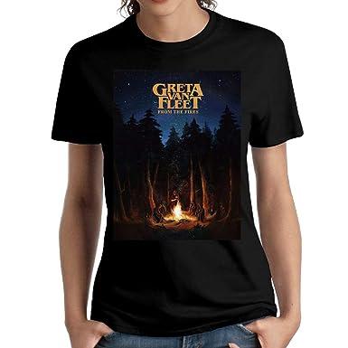 191612de7e Amazon.com  JeffryG Women s Greta Van Fleet Short Sleeve T Shirt Black   Clothing