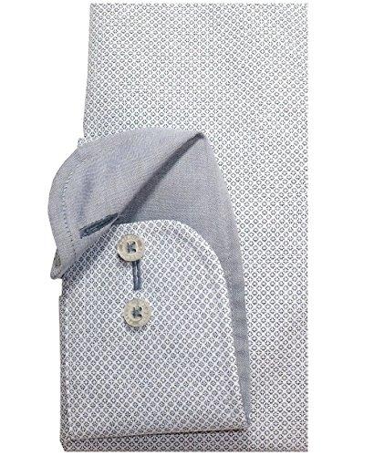 Casa Moda Modern Fit Premium Langarm Minidessin silbergrau Gr. 45 47 48