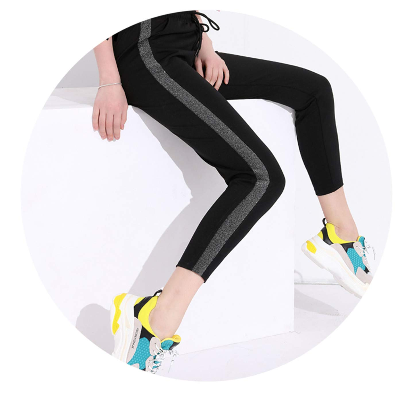 Amazon.com: Pantalones de mujer de rayas negras para mujer ...