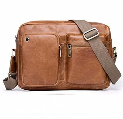 28a9b3c09cd5 Image Unavailable. Image not available for. Color  NHGY Men s leather  shoulder bag ...