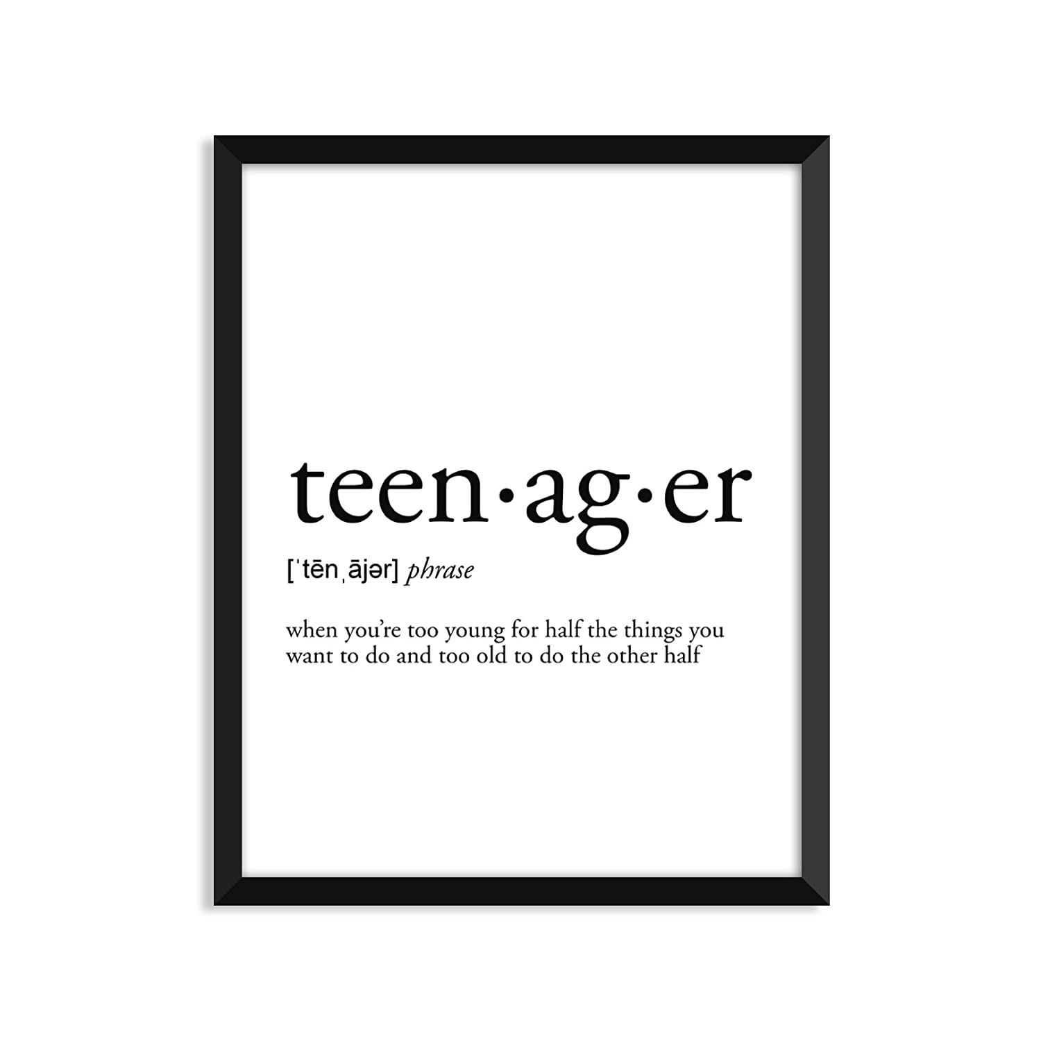 Unframed Art Print Poster Or Greeting Card FN0094G Teenager Definition