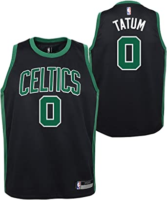 Outerstuff Jayson Tatum Boston Celtics #0 Youth Vertical Player Name /& Number T-Shirt Green
