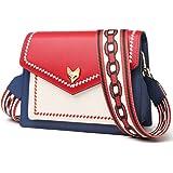 FOXER Women Leather Crossbody Bag Small Purse Colorful Crossbody Shoulder Bag
