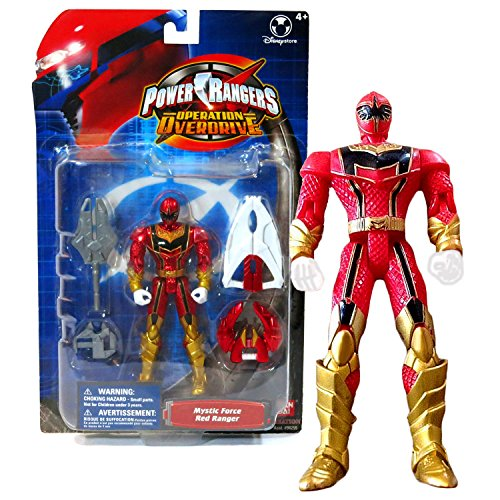 Bandai Year 2006 Power Rangers Operation Overdrive Series 5-1/2 Inch Tall Action Figure - MYSTIC FORCE RED RANGER with Claw Weapon, Twin Blade and Sword Red Power Ranger Operation Overdrive