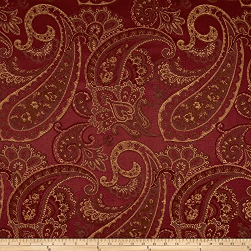 Eroica Candytuft Jacquard Merlot Fabric By The Yard
