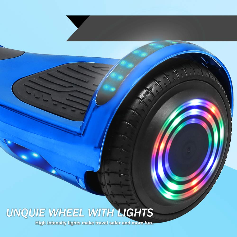 TechClic 6.5 Hoverboard Electric Self Balancing Scooter LED Hoverboard Self Balancing Scooter