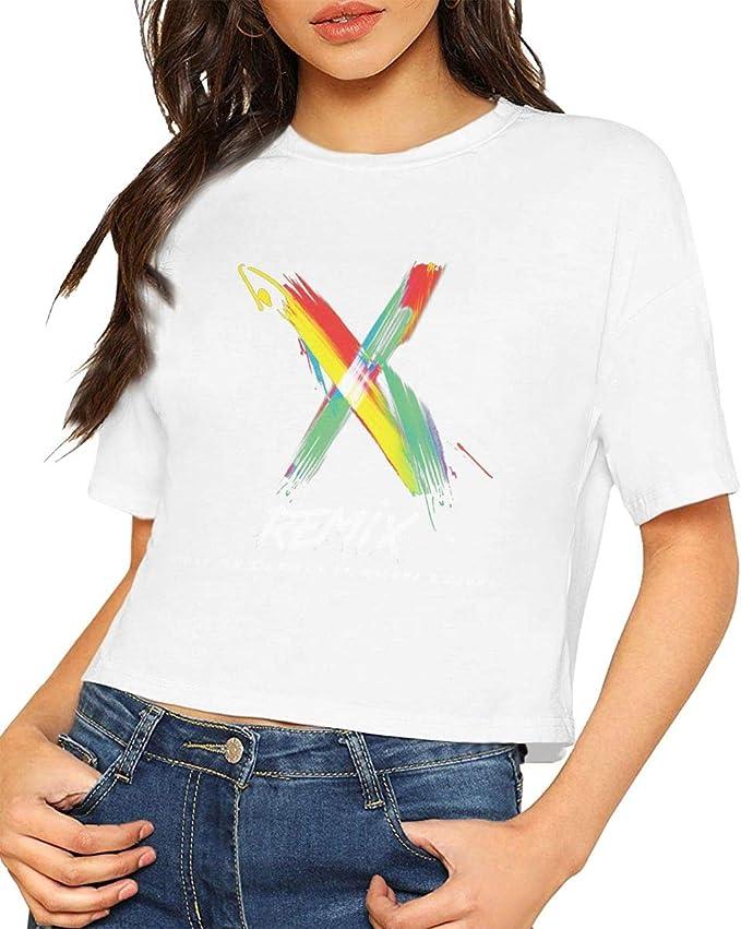 Camiseta Elegante de Manga Corta para Mujer Nicky Jam & J ...