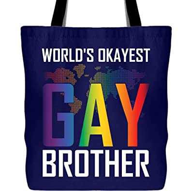 Amazon.com: Bolsas de lona My Brother Is Gay, bolsa de lona ...