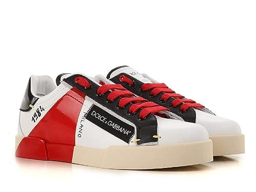 Uomo Gabbana Pelle Sneakers E BiancoAmazon Dolce Cs1613au45189926 8nwvN0Om