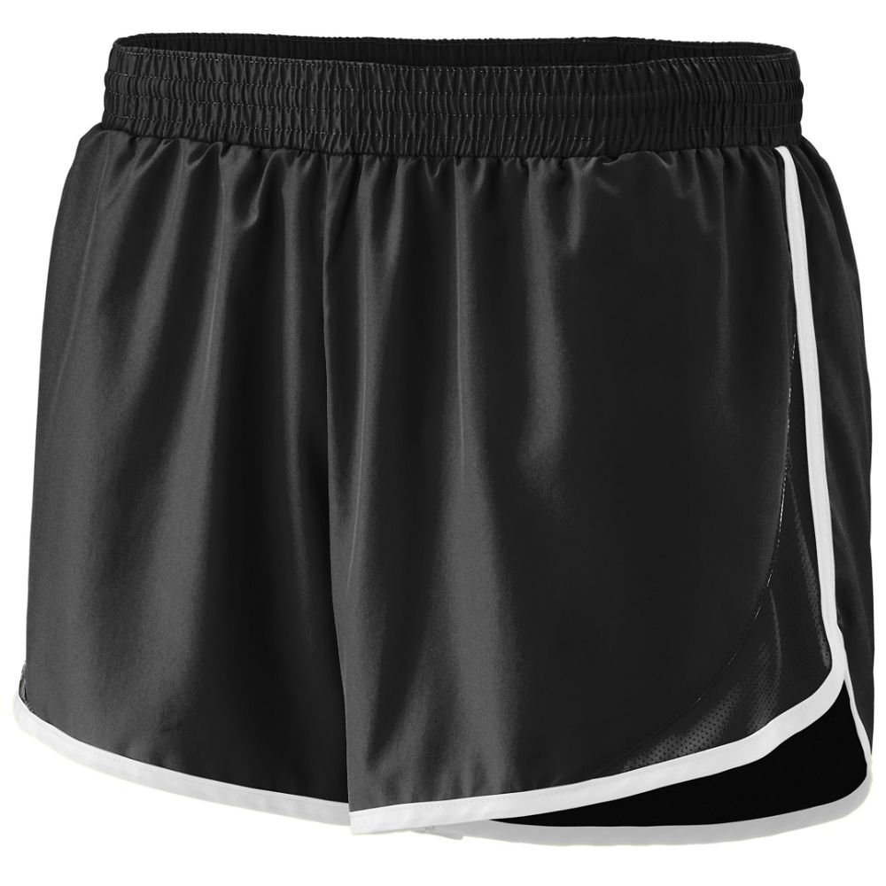Augusta Sportswear Augusta Girls Adrenaline Short, Black/Black/White, Medium