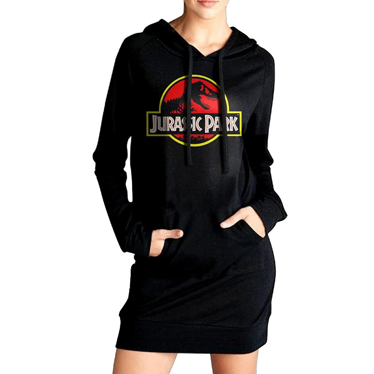 low-cost Jurassic Park Logo Women Long Sleeve Pocket Sweatshirt Hoodie