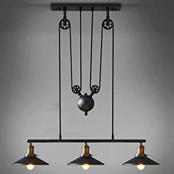 Perfect Coquimbo Rustic Home Decor Retro Pendant Retractable Chandelier Light  Adjustable Lamp 3 Head Hanging Light Loft
