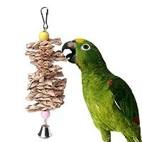Scelet Pet Bird mâcher Jouet Perroquet Perruche morsures de Paille Boule de Cloche Cage Jouets ronger Jouet