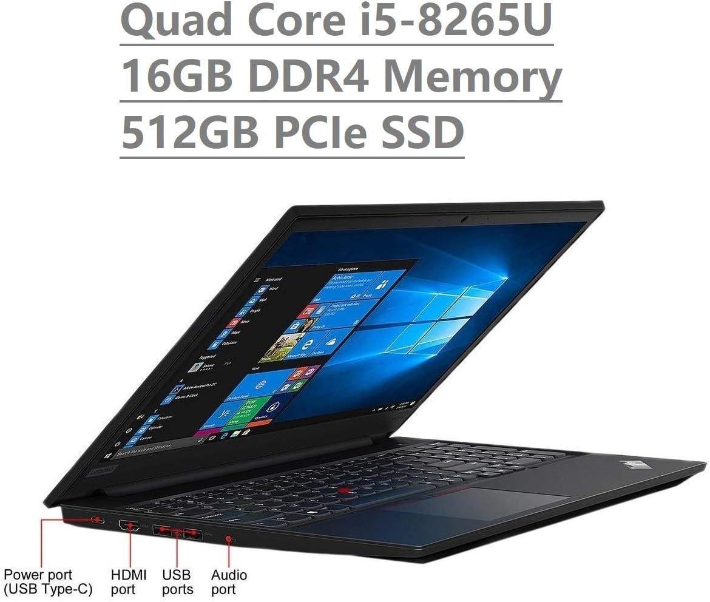 "Lenovo Thinkpad E590 15.6"" HD Business Laptop (Intel Quad Core i5-8265U, 16GB DDR4 Memory, 512GB PCIe 3.0(x4) NVMe SSD M.2 SSD) Type-C, HDMI, Ethernet, Webcam, Windows 10 Professional (Renewed)"
