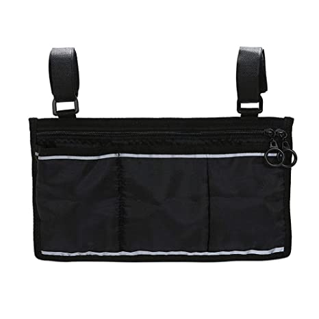 Amazon.com: Wheelchair Side Bag, Portable Wheelchair Mobility Carrying Wallet Armrest Bag Hanging Handle Holder Side Bag, Wheelchair Supplies(Black): Health ...