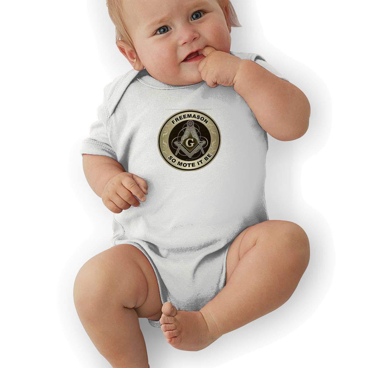 HappyLifea Freemason So Mote It Be Newborn Baby Short Sleeve Romper Infant Summer Clothing
