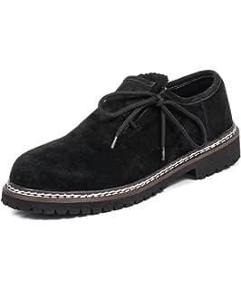 Wolpertinger W079151B43, Chaussures basses homme - Noir (Crazy Horse black), 44 EU